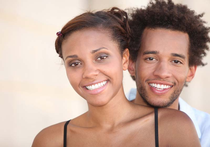Smiling young couple.
