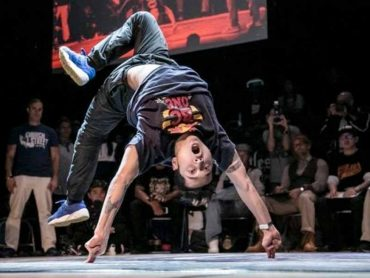 B-Boy breaker at world hip hop competition
