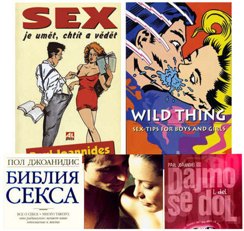 "Some of the covers of the foreign translations of the ""Guide To Getting It On"""